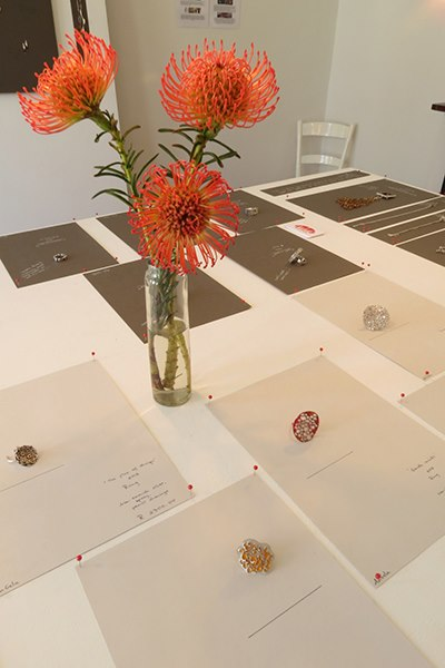 Detail of exhibition set-up at 30 on Roodebloem. (C) Frieda Luhl 2012.