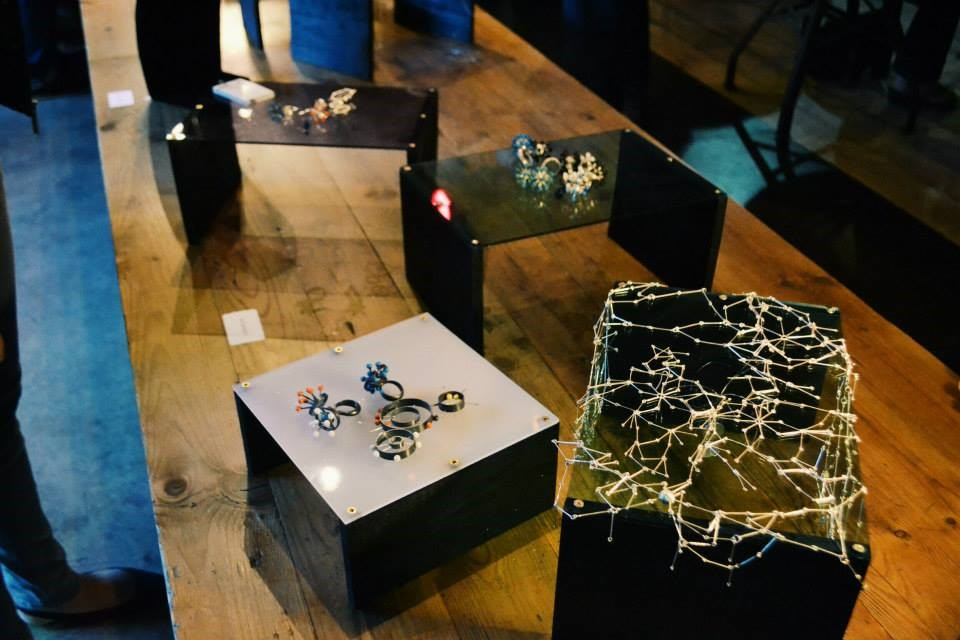 Exhibition detail at Truth Cafe, Buitenkant Street, Cape Town during the Precious Obsession pop-up event on 20 November 2014. Photo: Ms Kruger
