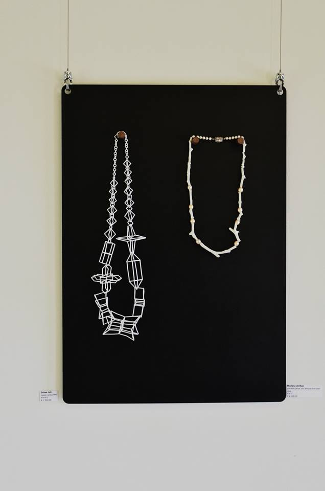 55 Artists / Necklaces - exhibition detail, November 2014. Photo: Liz Loubser Gallery/Tinsel